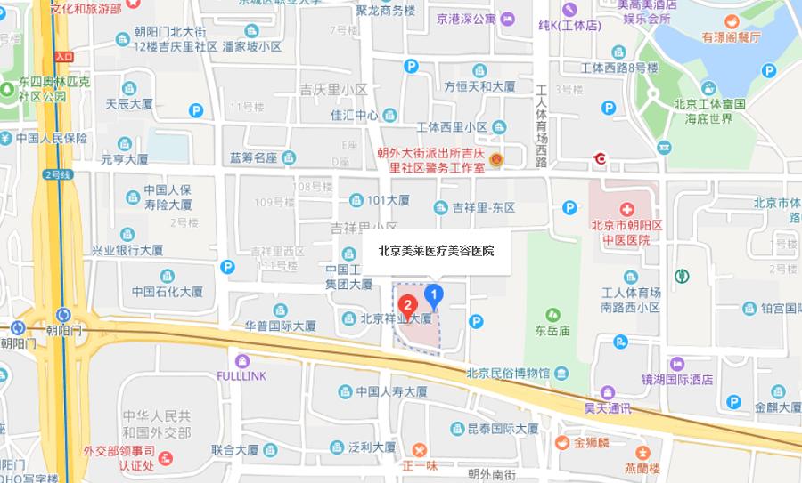 北京美莱整形医院路线地图